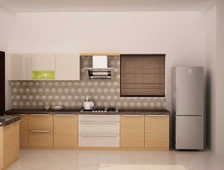 Simplified kitchen 02: minimalistic Kitchen by NVT Quality Build solution
