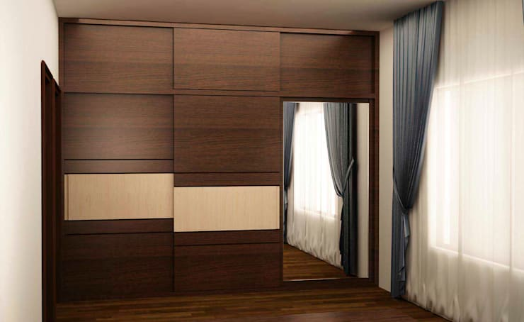 Wardrobe in sliding style:  Bedroom by NVT Quality Build solution