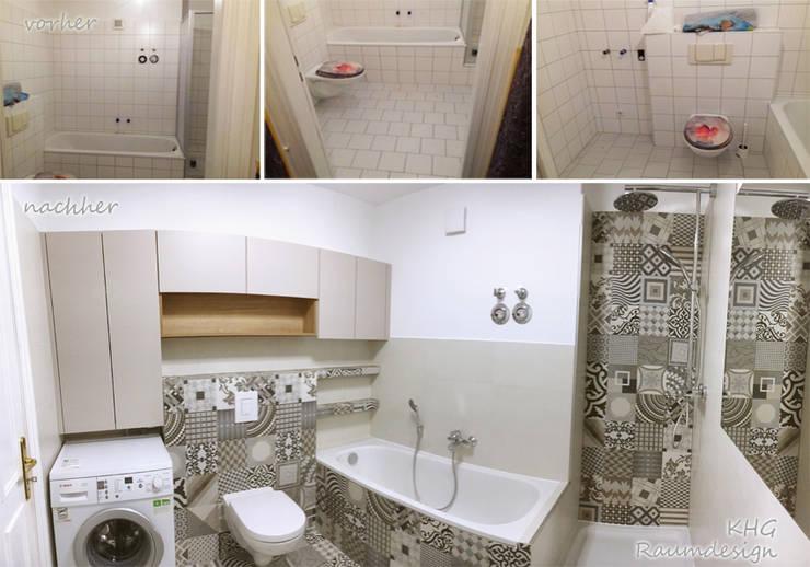 Vorher / Nachher: moderne Badezimmer von KHG Raumdesign