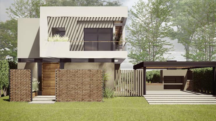 Vivienda unifamiliar Milcayac: Casas unifamiliares de estilo  por Be&Sa Arquitectura y Diseño