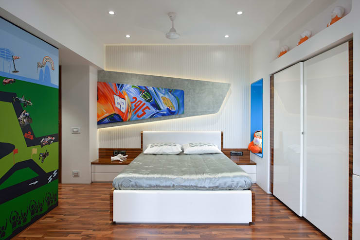KIDS BEDROOM:  Boys Bedroom by Ar. Milind Pai,Modern