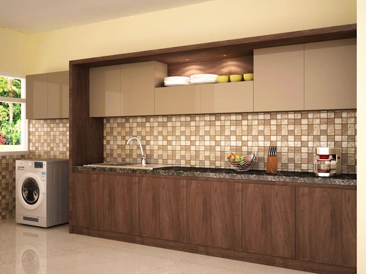 Concealed style kitchen :  Kitchen by NVT Quality Build solution