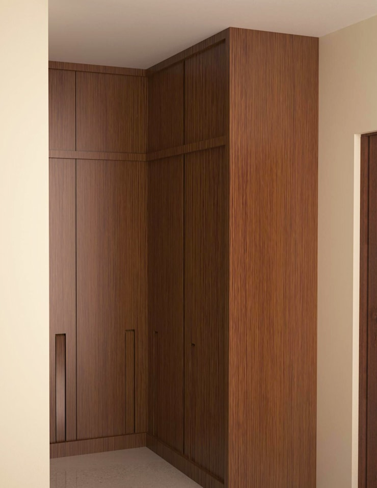 Full height wardrobe unit :  Dressing room by NVT Quality Build solution