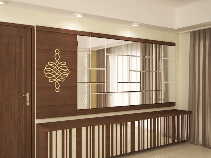 Wall paneling :  Corridor & hallway by NVT Quality Build solution