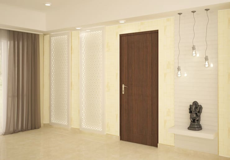 Wall paneling : classic Living room by NVT Quality Build solution