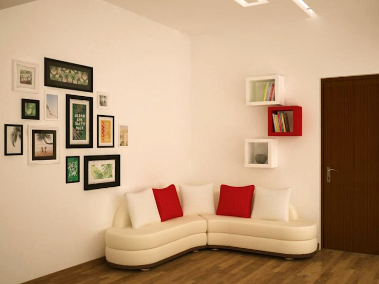 Relaxing area : country Study/office by NVT Quality Build solution