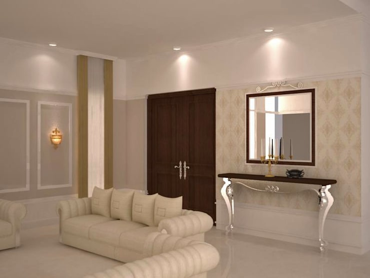 Classy seating area: classic Living room by NVT Quality Build solution
