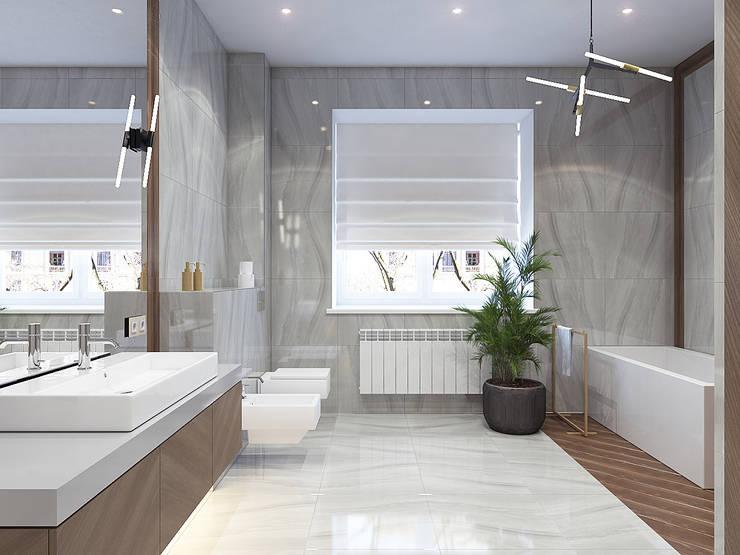 浴室 by Студия дизайна и визуализации интерьеров Ивановой Натальи., 現代風
