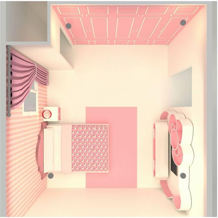 ห้อง style คิตตี้ หวานแหว:  ตกแต่งภายใน by mayartstyle