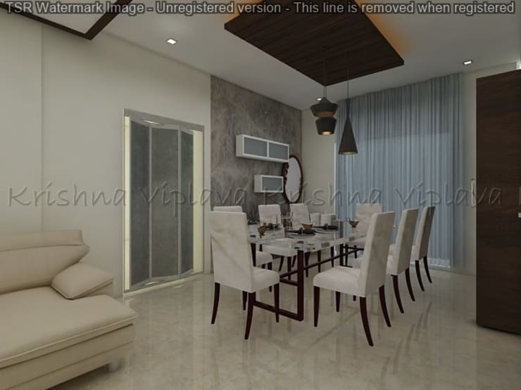 Dining Room :  Dining room by Regalias India Interiors & Infrastructure