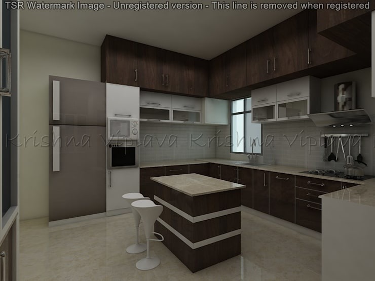 Kitchen:  Built-in kitchens by Regalias India Interiors & Infrastructure