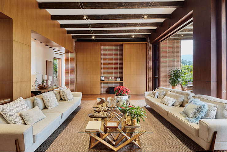 Living room by FR ARQUITECTURA S.A.S.