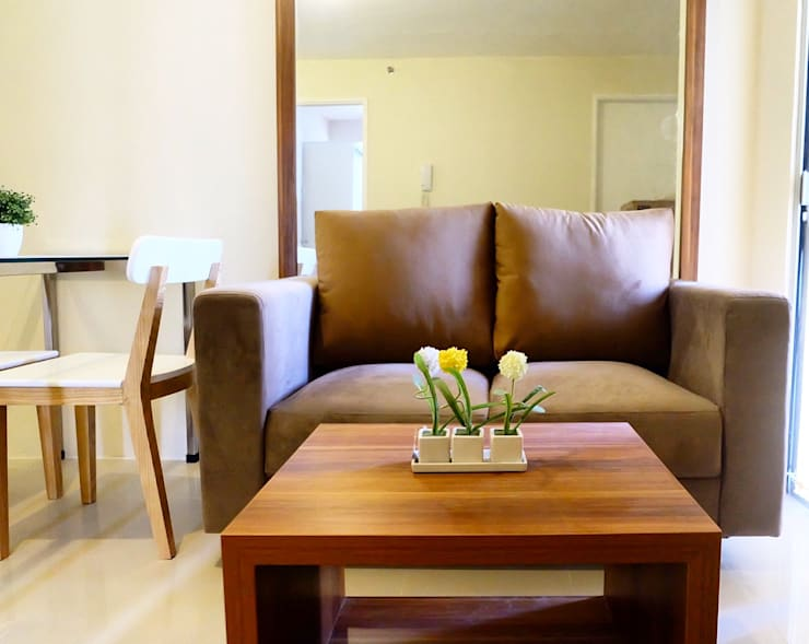 APARTEMEN MINIMALIS:  Ruang Keluarga by FIANO INTERIOR