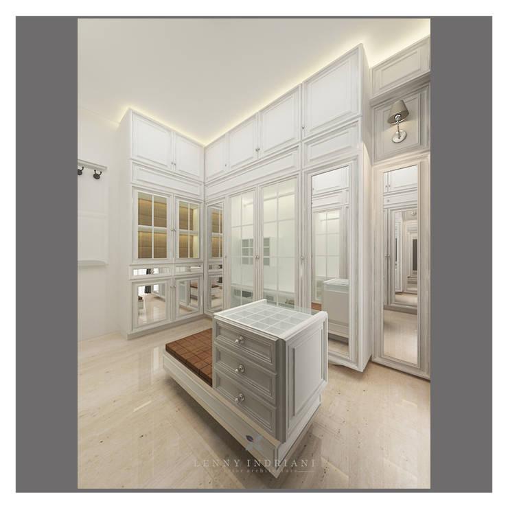 classic white wardrobe:  Kamar Tidur by Lenny indriani design