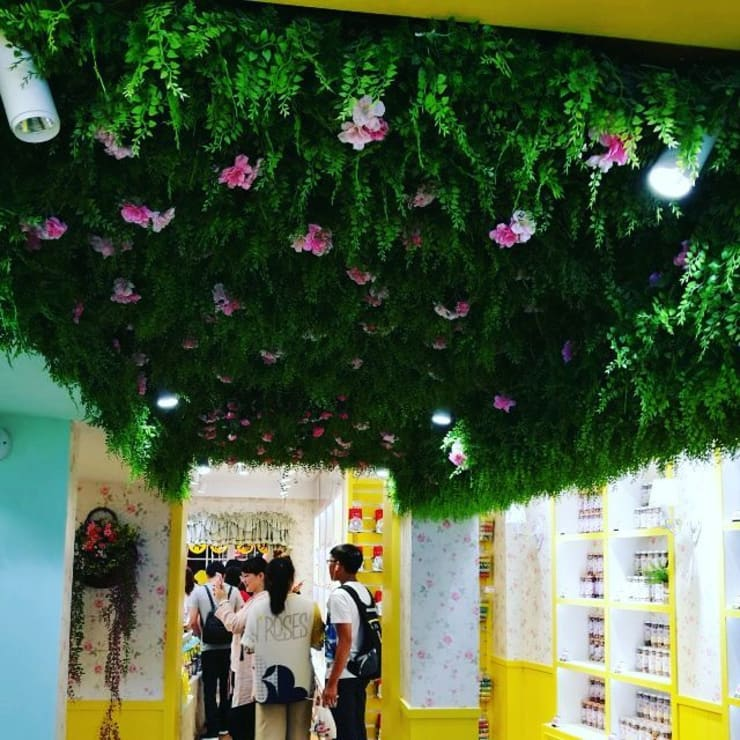 Artificial plants wall for ceiling landscape design:  Interior landscaping by Sunwing Industrial Co., Ltd.