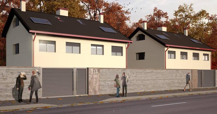 Vista exterior 2 Casas estilo moderno: ideas, arquitectura e imágenes de A3D INFOGRAFIA Moderno