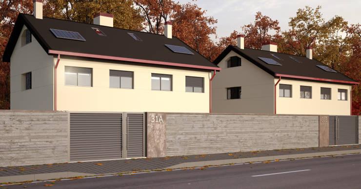Vista exterior 1 Casas estilo moderno: ideas, arquitectura e imágenes de A3D INFOGRAFIA Moderno