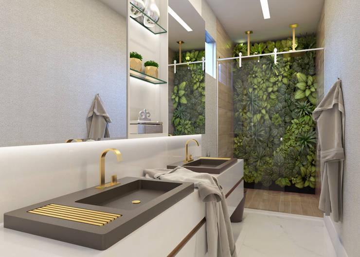 Baños de estilo  por Daniela Andrade Arquitetura