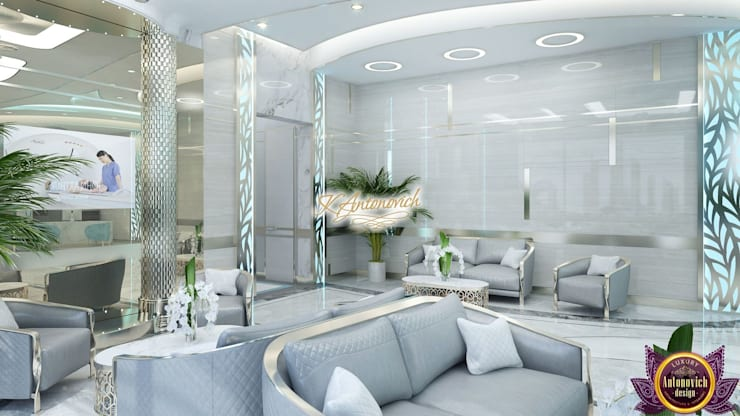 ​Office design concepts by Katrina Antonovich:  Study/office by Luxury Antonovich Design