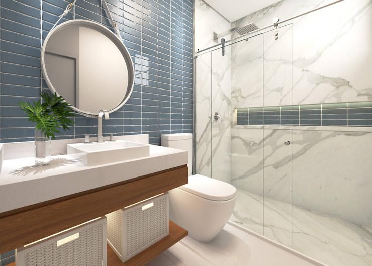 浴室 by Daniela Andrade Arquitetura