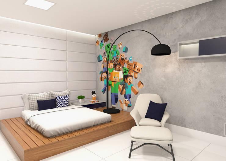 Casa JH: Quarto infantil  por Daniela Andrade Arquitetura