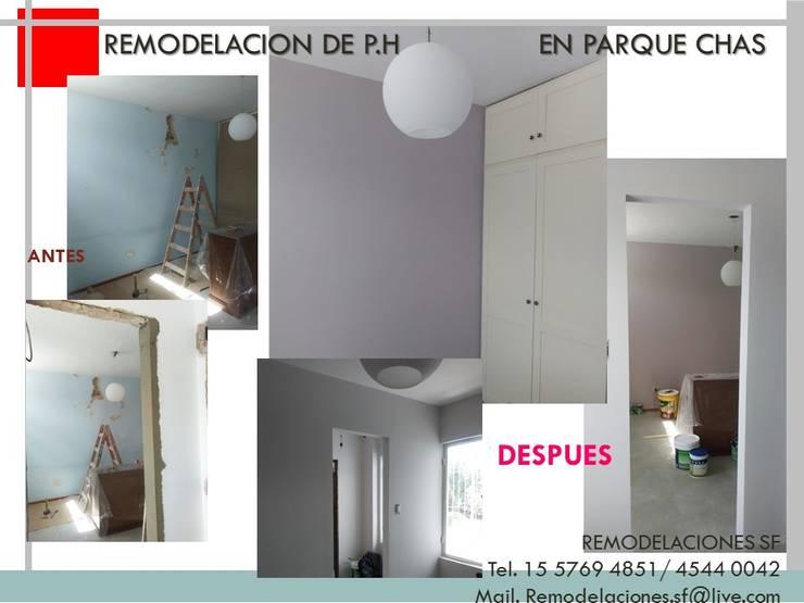 Remodelacion de P.H:  de estilo  por Remodelaciones SF