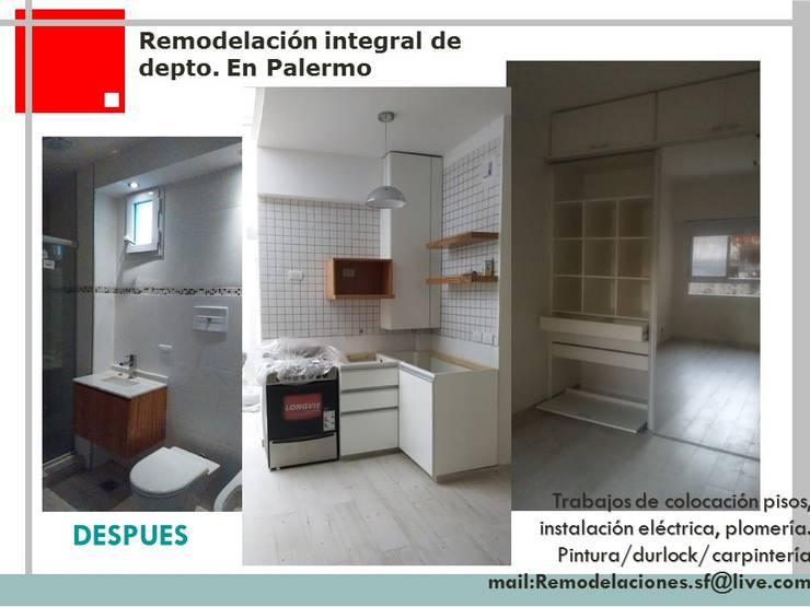 Remodelacion de departamento en Palermo:  de estilo  por Remodelaciones SF,