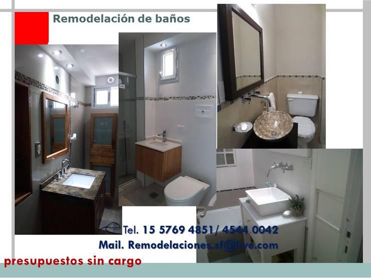 Remodelacion de Baños:  de estilo  por Remodelaciones SF,