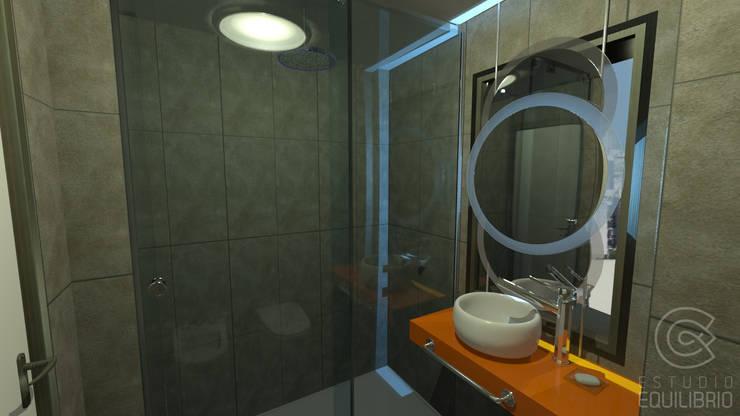 Proyecto Baño M: Baños de estilo  por Estudio Equilibrio