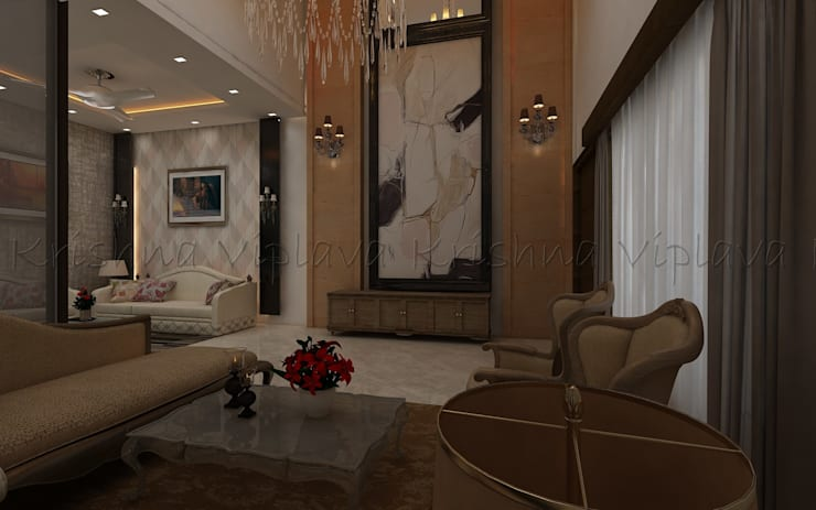 Living Room:  Living room by Regalias India Interiors & Infrastructure