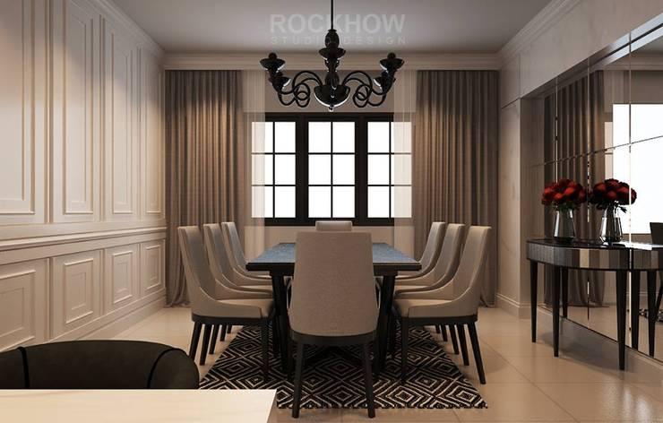 งานออกแบบตกแต่งบ้านพักอาศัย:  ตกแต่งภายใน by Rockhow Studio Design