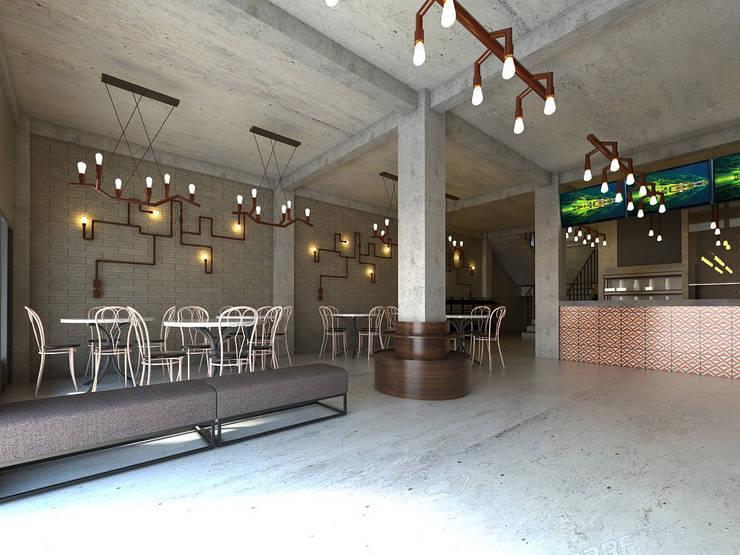 Interior Restaurant Pempek:   by Roemah Cantik