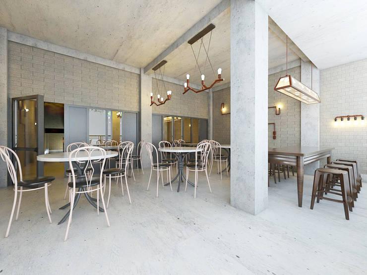 Interior Restaurant Pempek Palembang:   by Roemah Cantik