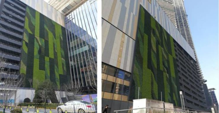 Exterior Green Wall Design By Artificial Plants Sheet:  Commercial Spaces by Sunwing Industrial Co., Ltd.