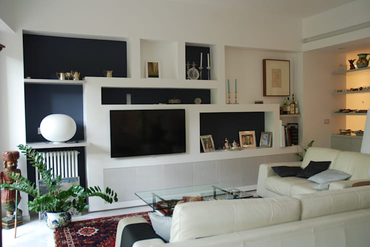 Salones de estilo moderno de gambardella e  rossi architetti