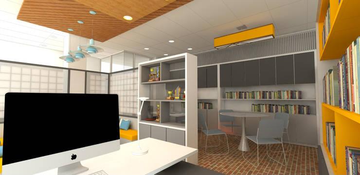 Interior Kantor Humas Fakultas Ilmu Budaya Universitas Indonesia:   by Studio Slenpan