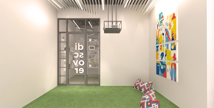 Interior Office Omeoo Media, Living Digital & Interaction Agency:   by Studio Slenpan
