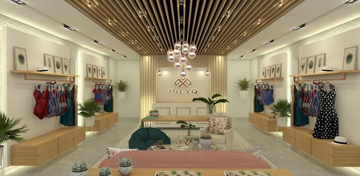 PILYQ DESIGN GUIDE | Espacio Large: Espacios comerciales de estilo  por C | C INTERIOR ARCHITECTURE
