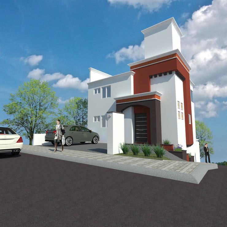 Pitahayas, Zibatá: Casas de estilo  por DEC Arquitectos