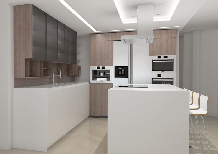 La Llovizna : modern Kitchen by Spazio Design