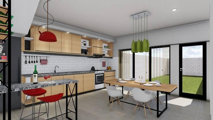 Vivienda en Duplex: Comedores de estilo  por ARBOL Arquitectos ,