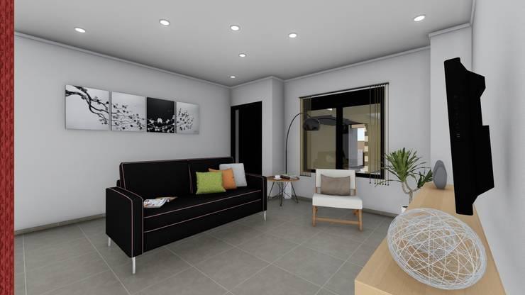 Vivienda en Duplex: Livings de estilo  por ARBOL Arquitectos ,