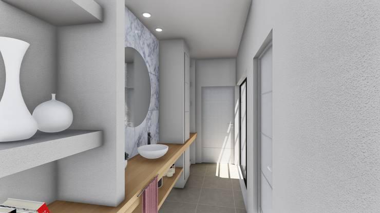 Vivienda en Duplex: Baños de estilo  por ARBOL Arquitectos ,