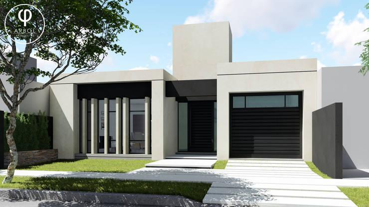 Vivienda Racional Compacta: Casas de estilo  por ARBOL Arquitectos ,