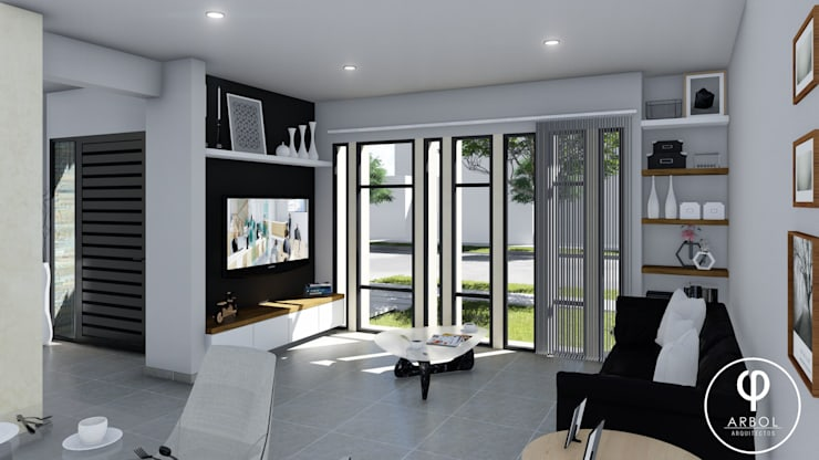 Vivienda Racional Compacta: Livings de estilo  por ARBOL Arquitectos ,