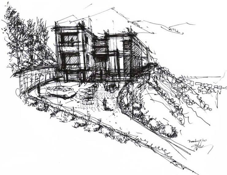 컨셉스케치: (주)건축사사무소 예인그룹의  계단,모던 화강암