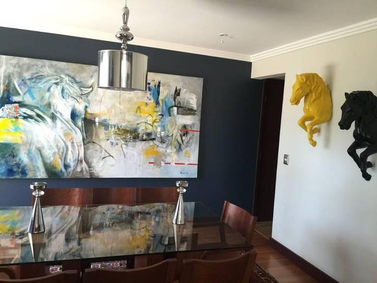REMODELACION VIVIENDA UNIFAMILIAR VITACURA: Casas de estilo  por ALLEGRE ARQUITECTOS