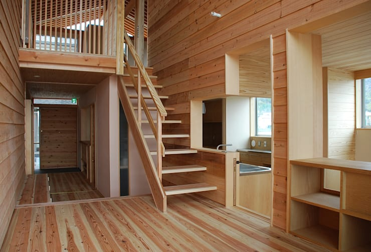 Treppe von 丸菱建築計画事務所 MALUBISHI ARCHITECTS