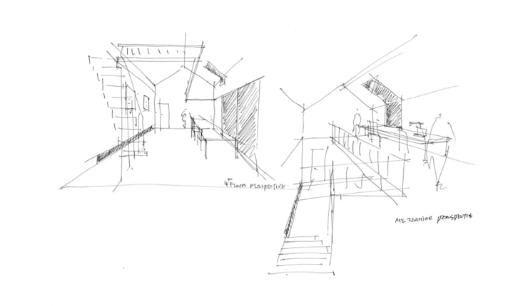 컨셉스케치: (주)건축사사무소 예인그룹의  계단,모던 벽돌