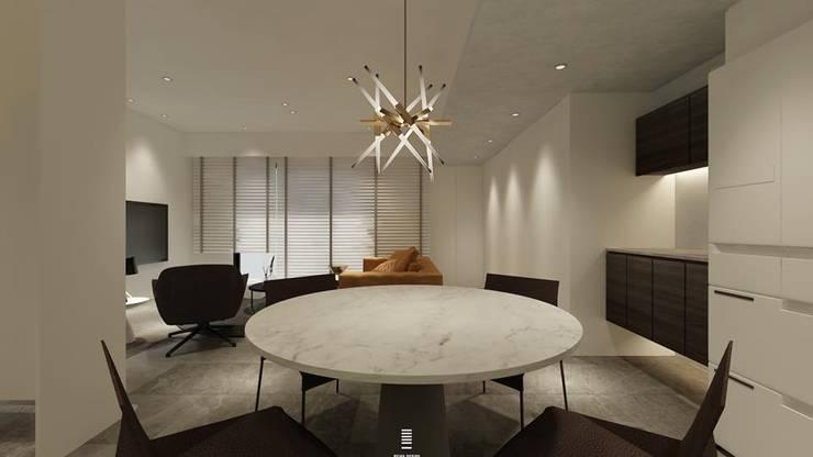 Xizhi C House:  餐廳 by 質覺制作設計有限公司